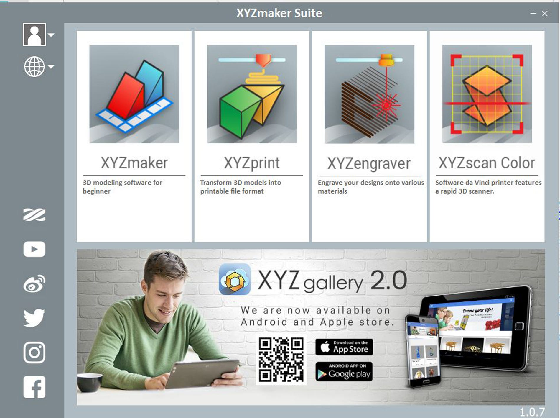 XYZMaker Suite software.