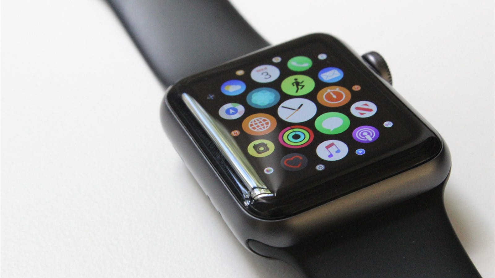 Apple Watch Series 3 on the apps screen