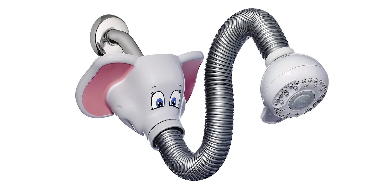 The Waterpik Safari Spray Elephant Shower Head.