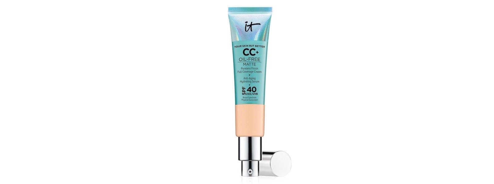 A tube of It CosmeticsCC Cream Oil-Free Matte