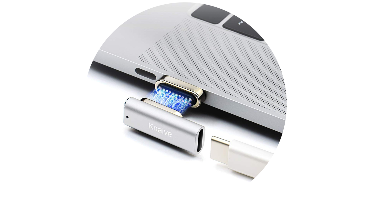 The Knaive magnetic USB-C adapter