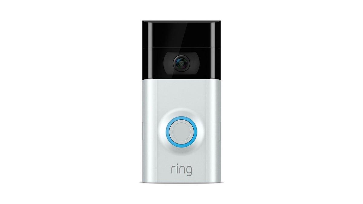 A Ring Video Doorbell.