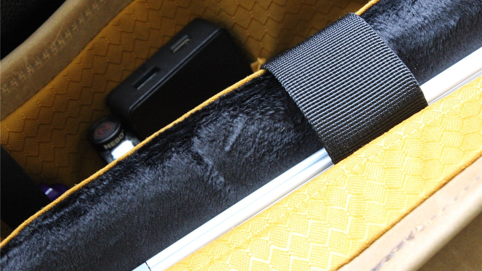 The padded laptop compartment