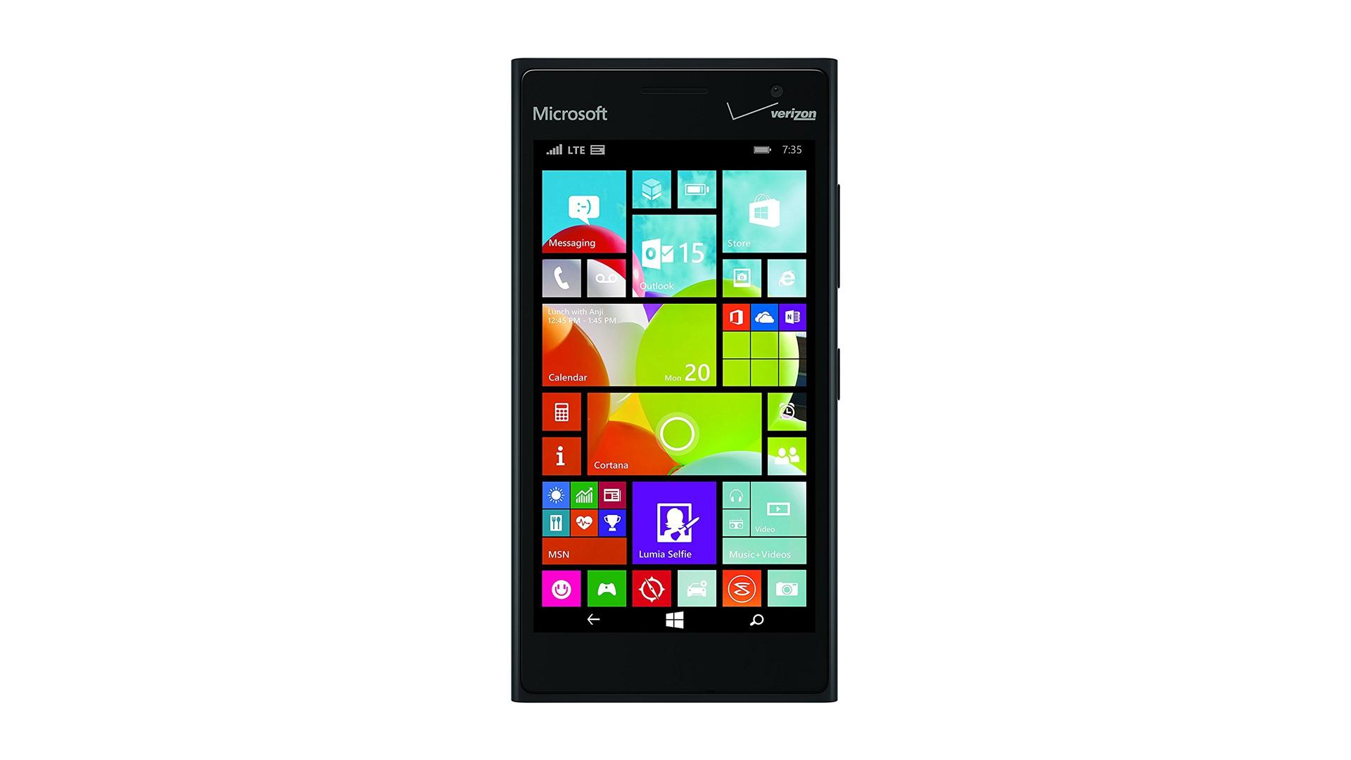 The Nokia Lumia 735 Windows cell phone.