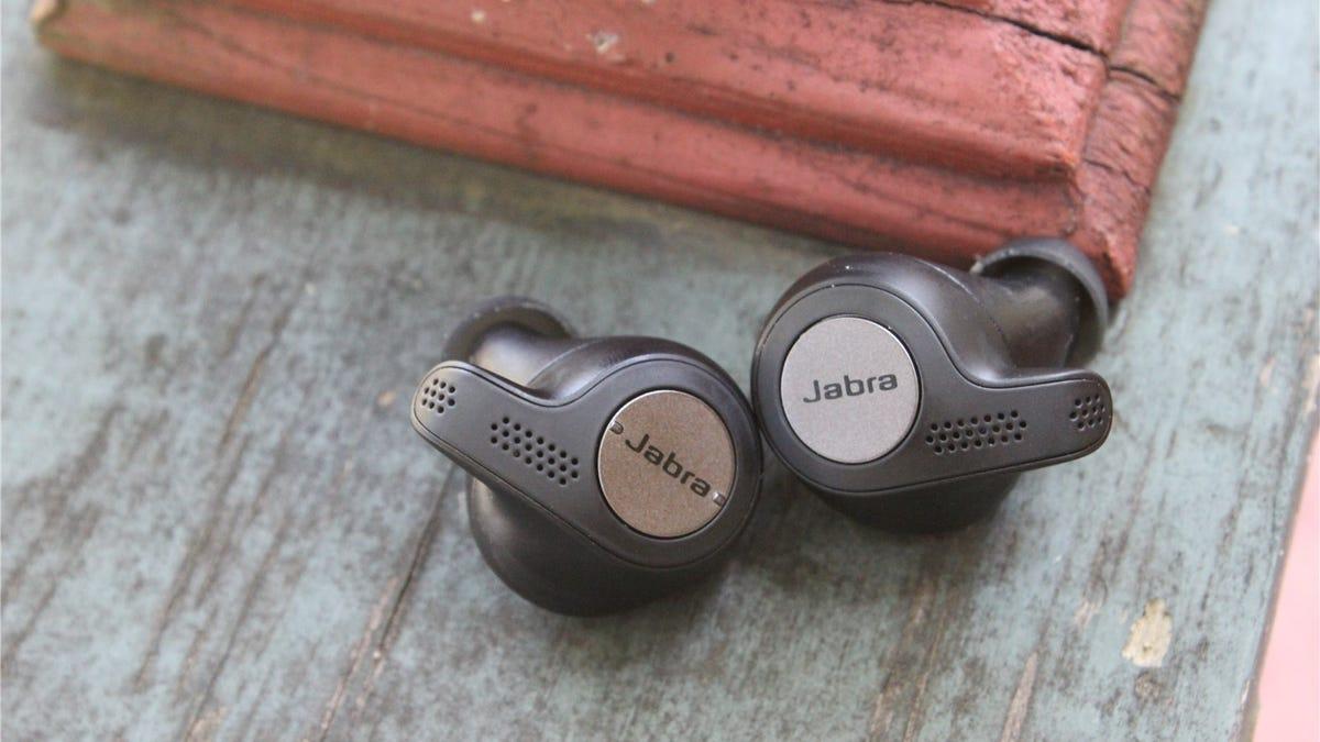 The Jabra Elite Active 65t true wireless earbuds.