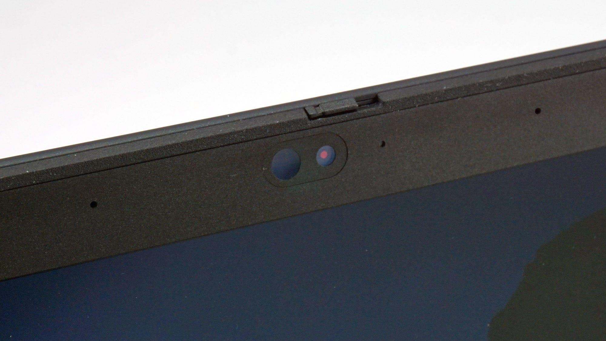 The webcam on the Lenovo T490s.