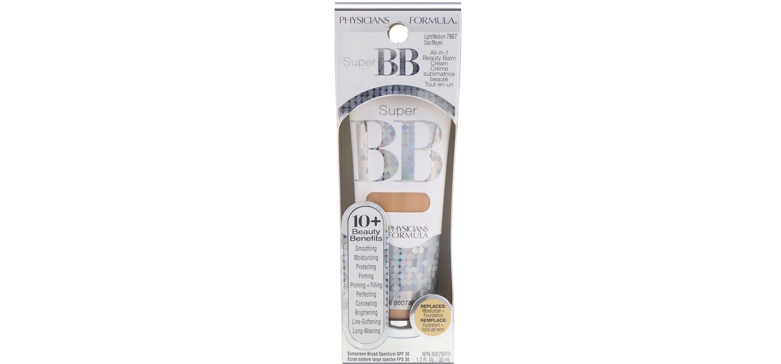 A tube of Physicians Formula Super BB in its cardboard package.
