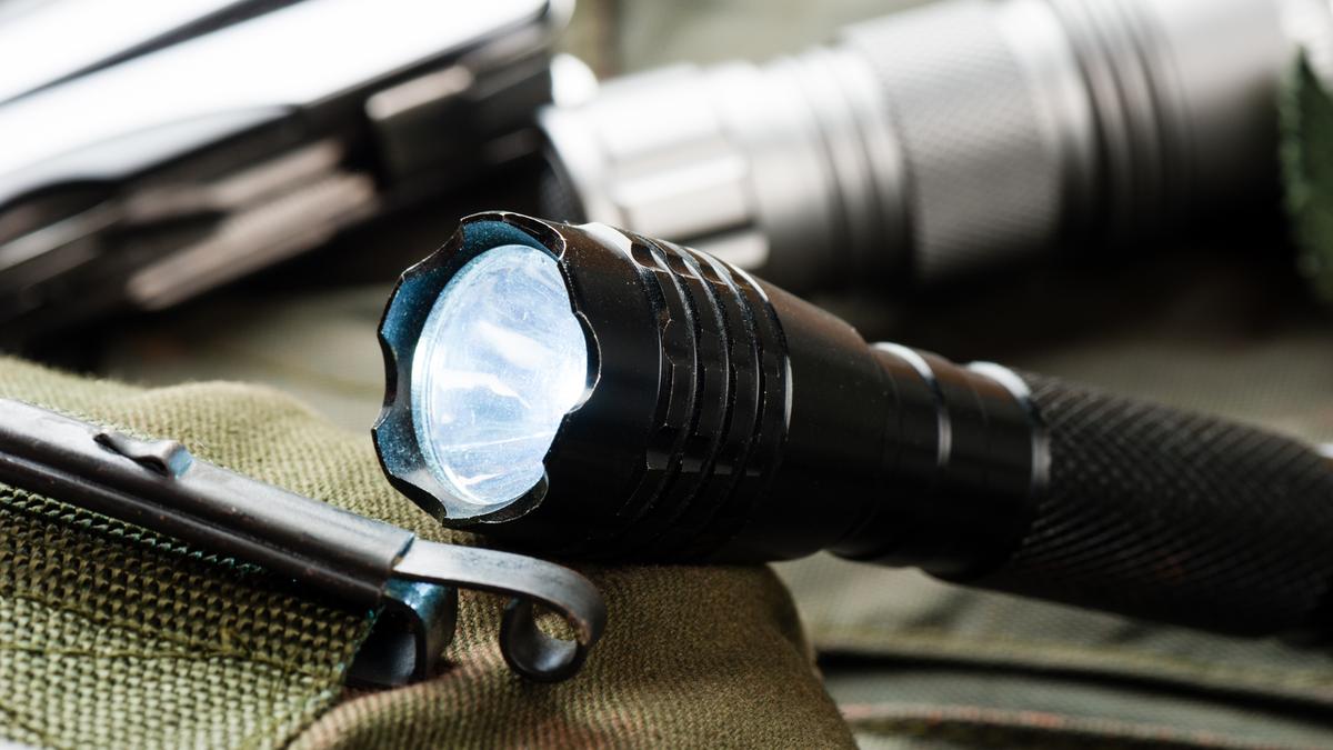 An everyday carry flashlight.