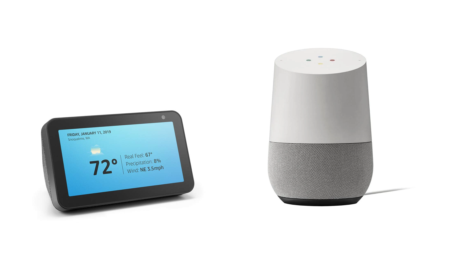 The Echo Show 5 and the Google Home