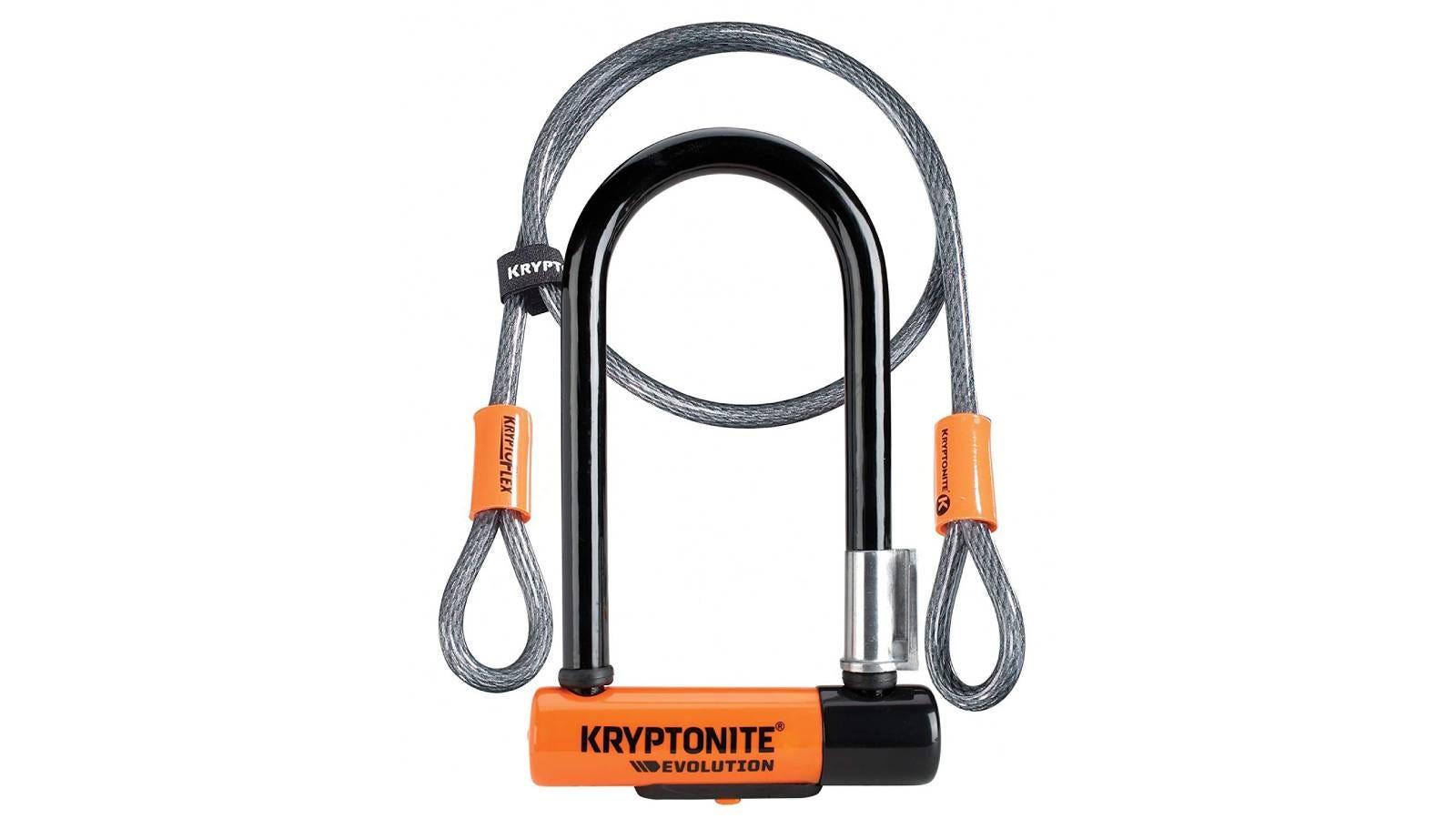 The Kryptonite Evolution 11-14mm U-Lock with FlexFrame-U Bracket.