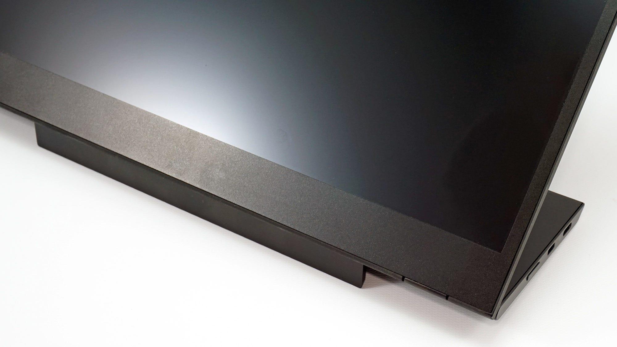 The Lenova ThinkVision M14 two-part kickstand.