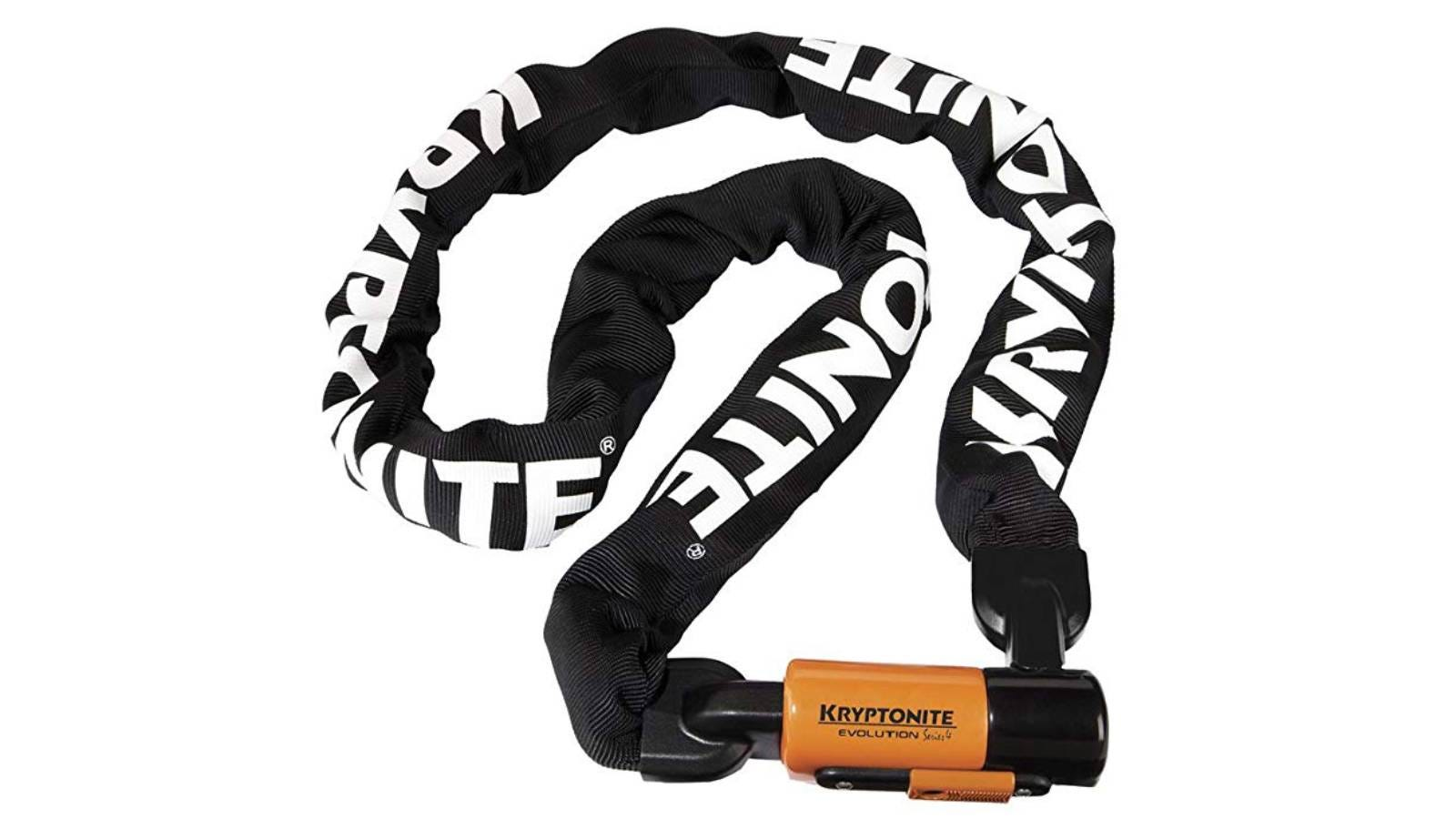 The Kryptonite Evolution Series-4 1016 Integrated Chain Bicycle Lock.