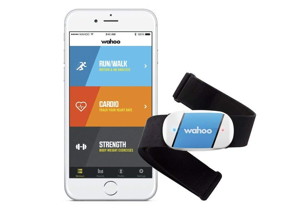 The Wahoo Tickr gives you all the basic functions for just $50, and it's compatible with most fitness apps.