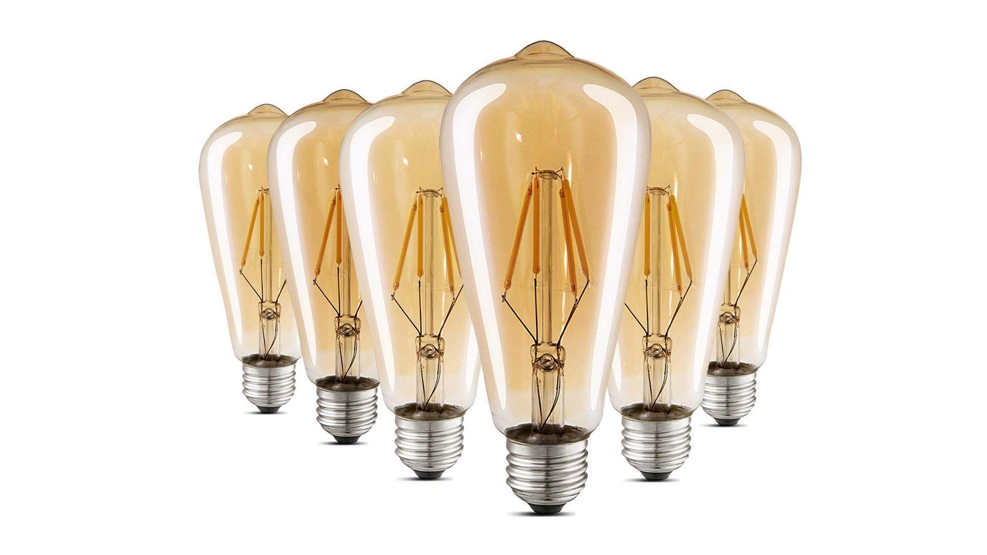 LUXON's Edison styled LED bulbs.
