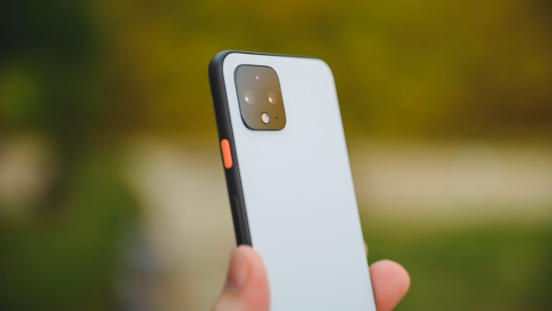 Google Pixel 4 Clearly White Side Angle