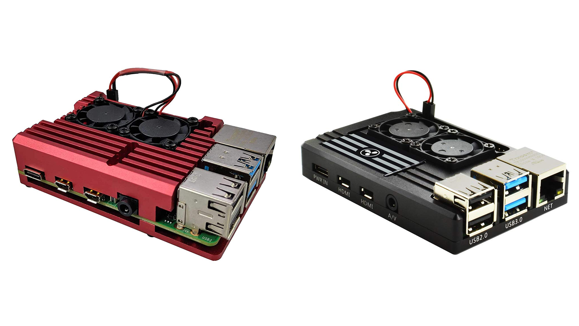The Eleduino and Artik cooling Pi cases