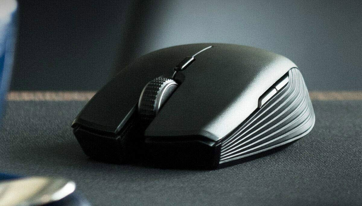 The Razer Atheris mouse from the front.