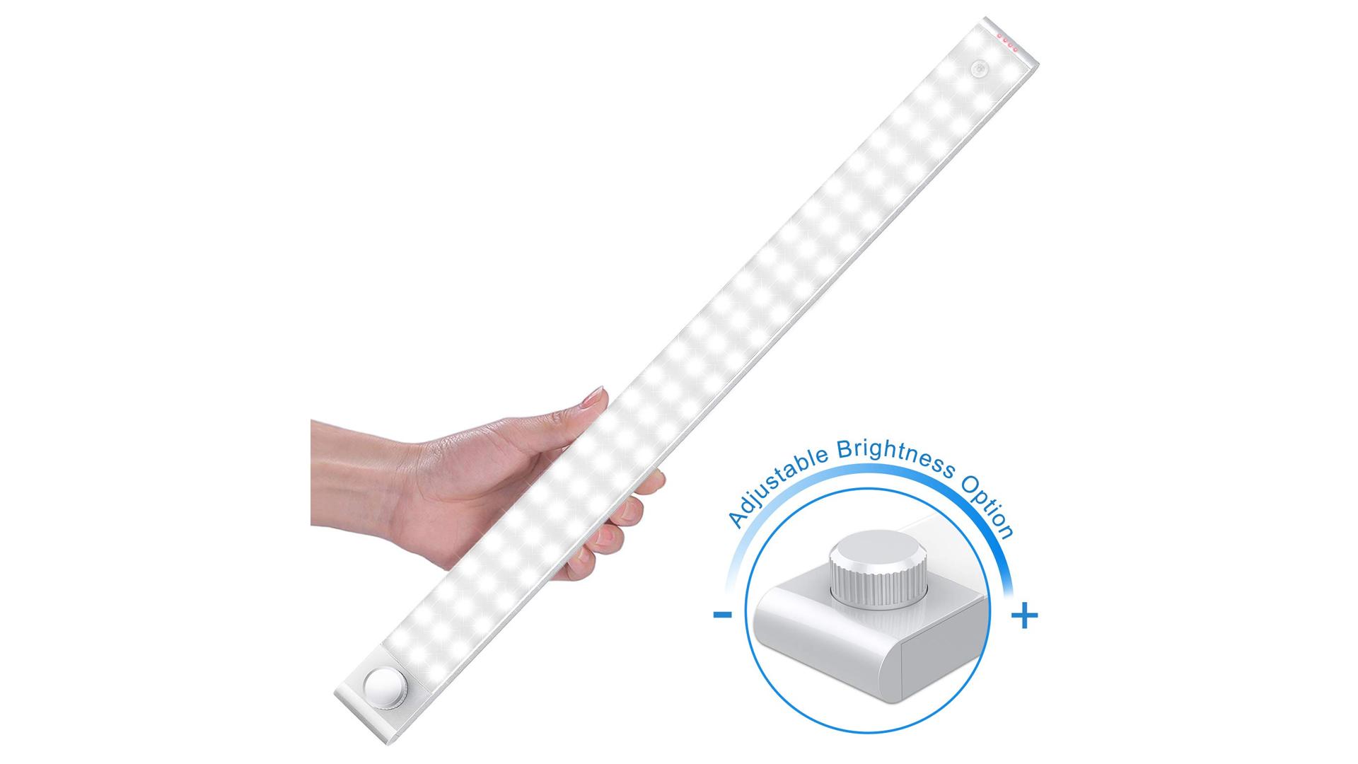 The LightBiz 78-LED Light Strip and Adjustable Brightness Knob.