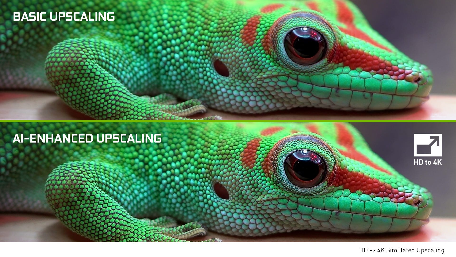 An NVIDIA example of AI 4K upscaling.