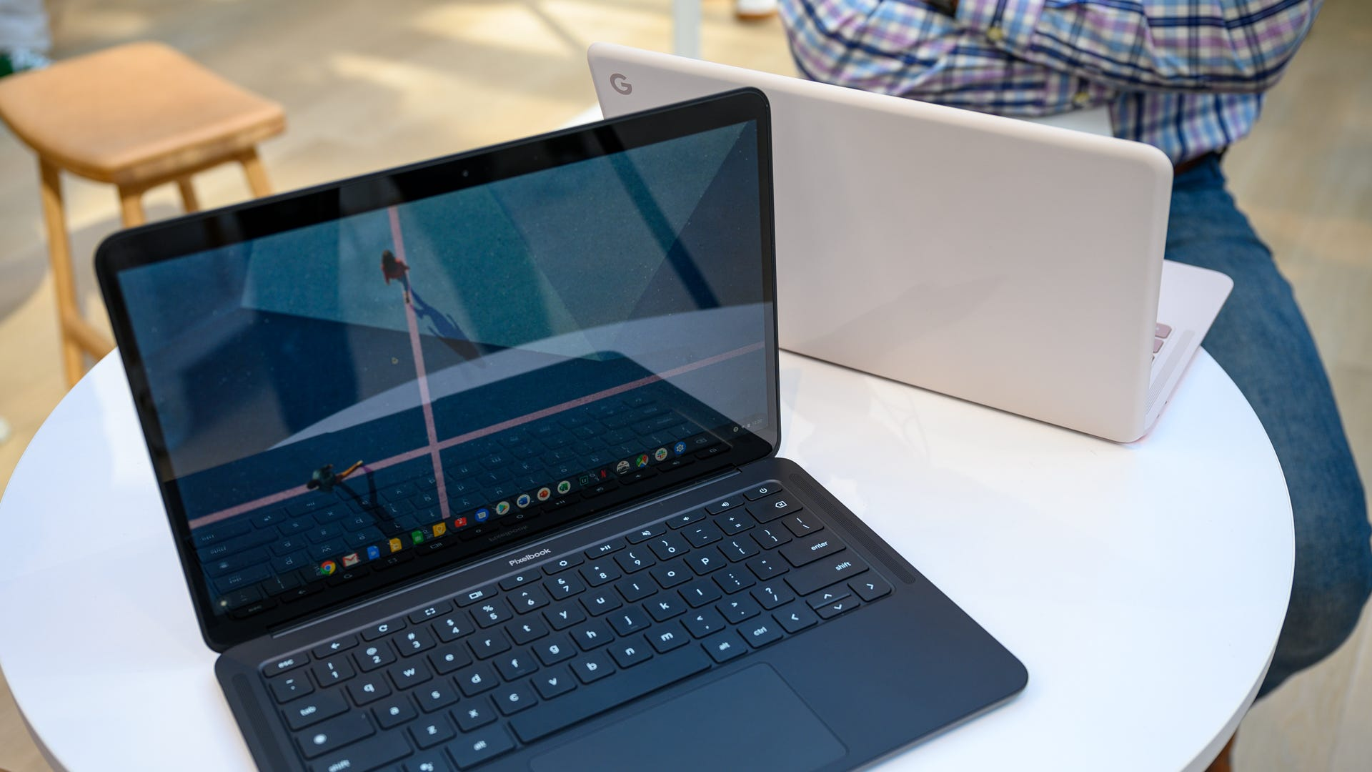 The Pixelbook Go sitting on a table