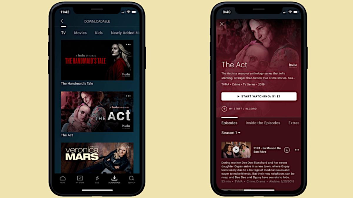 Hulu Downloads section