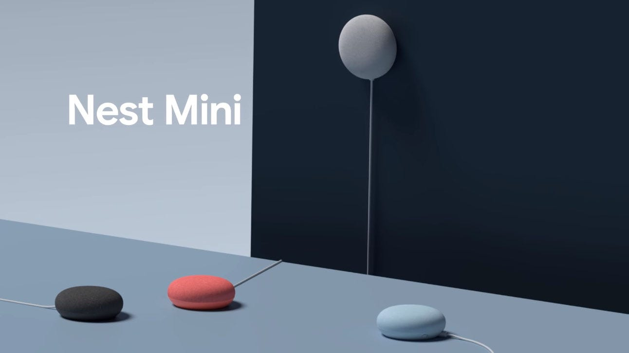 Google's new Nest Mini speaker.