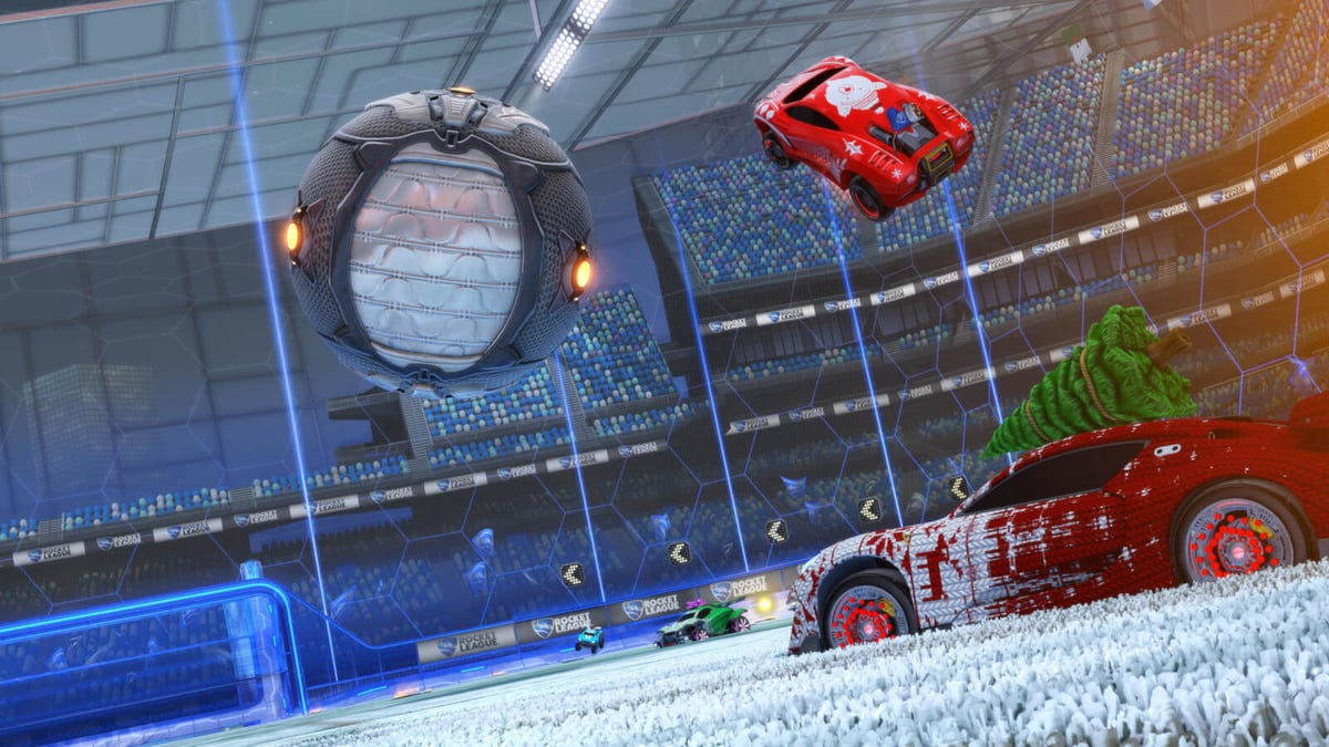 Rocket League Christmas Event Promo Image