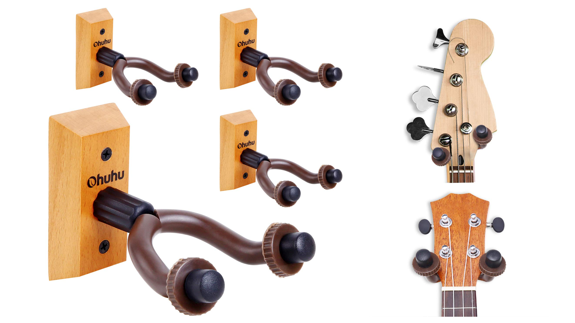 The adjustable Ohuhu wall mounts in different positions.