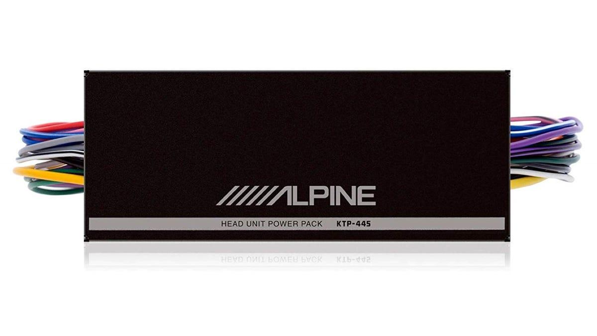 The Alpine KTP-445U Mini-Amplifier.