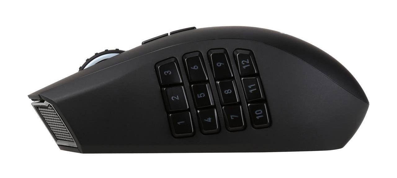 The side of the Naga Epic Chroma, with twelve thumb buttons.