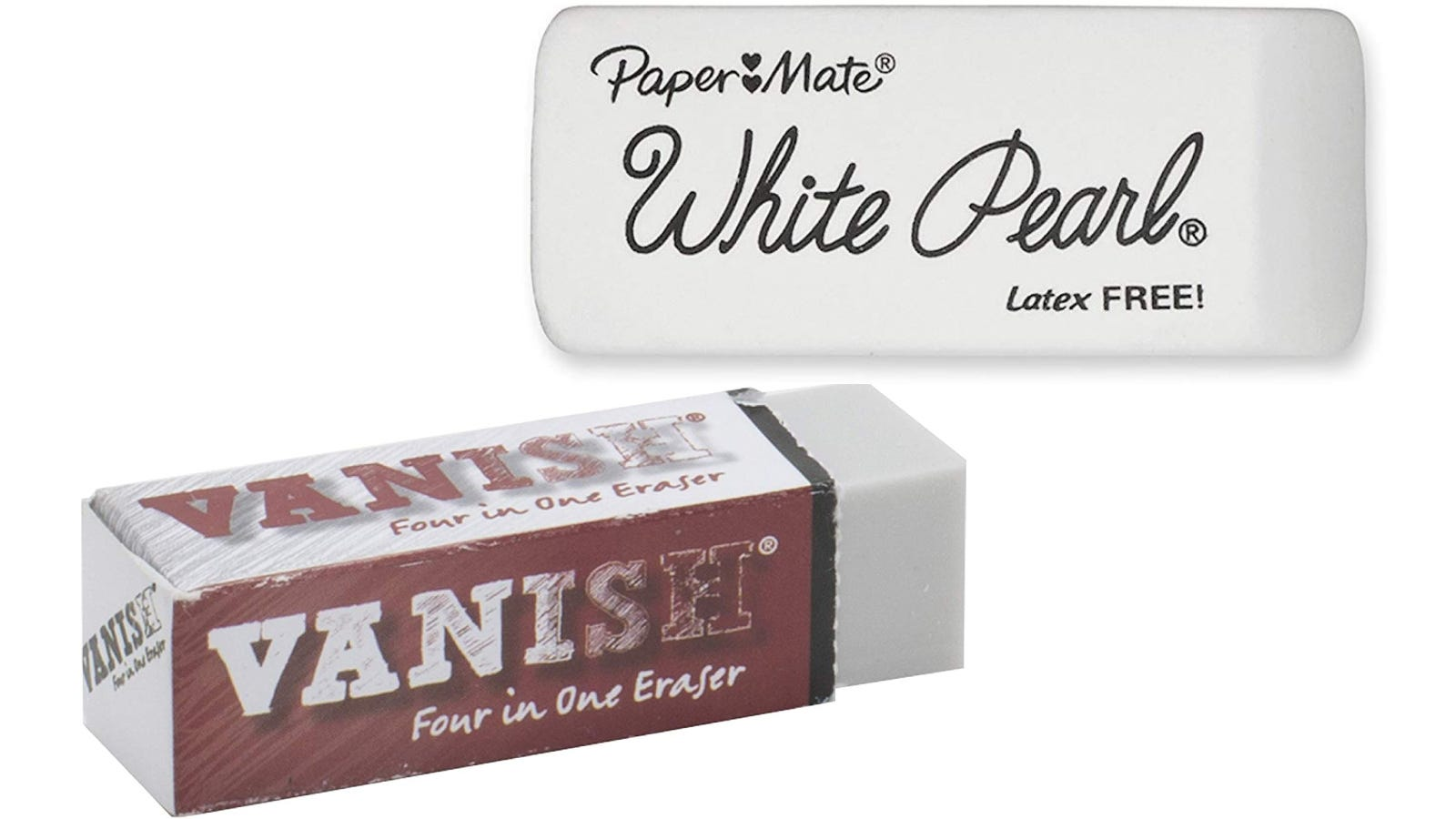 Paper Mate White Pearl Premium Erasers and Vanish 4-in-1 Artist Eraser