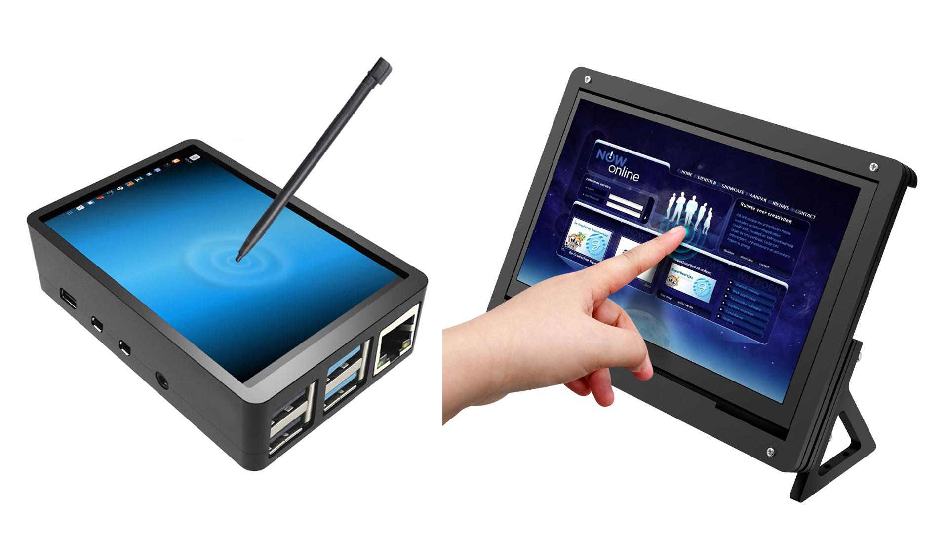 The Longrunner and Jun-Electron touchscreen Pi cases