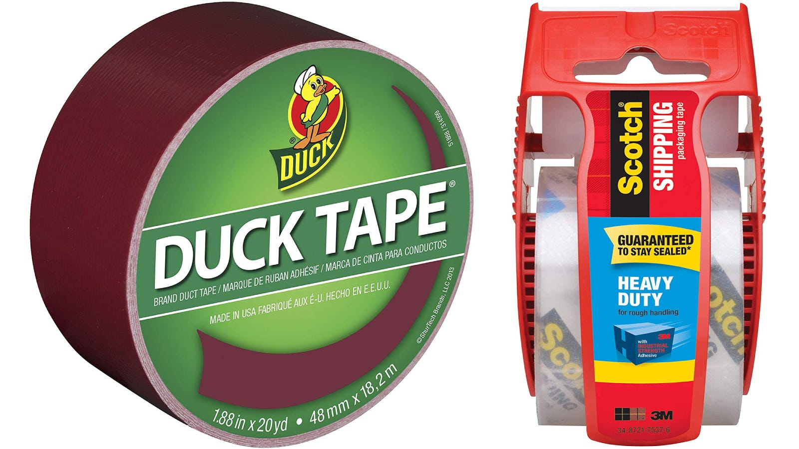 Duck Tape Duct Tape, Scotch Packaging Tape