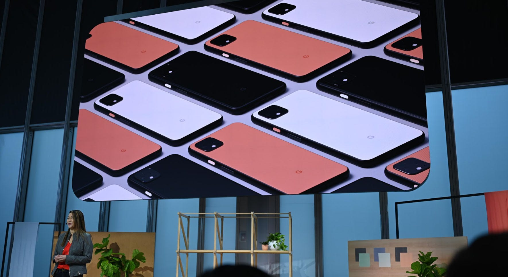 The Pixel 4 at Google's event.