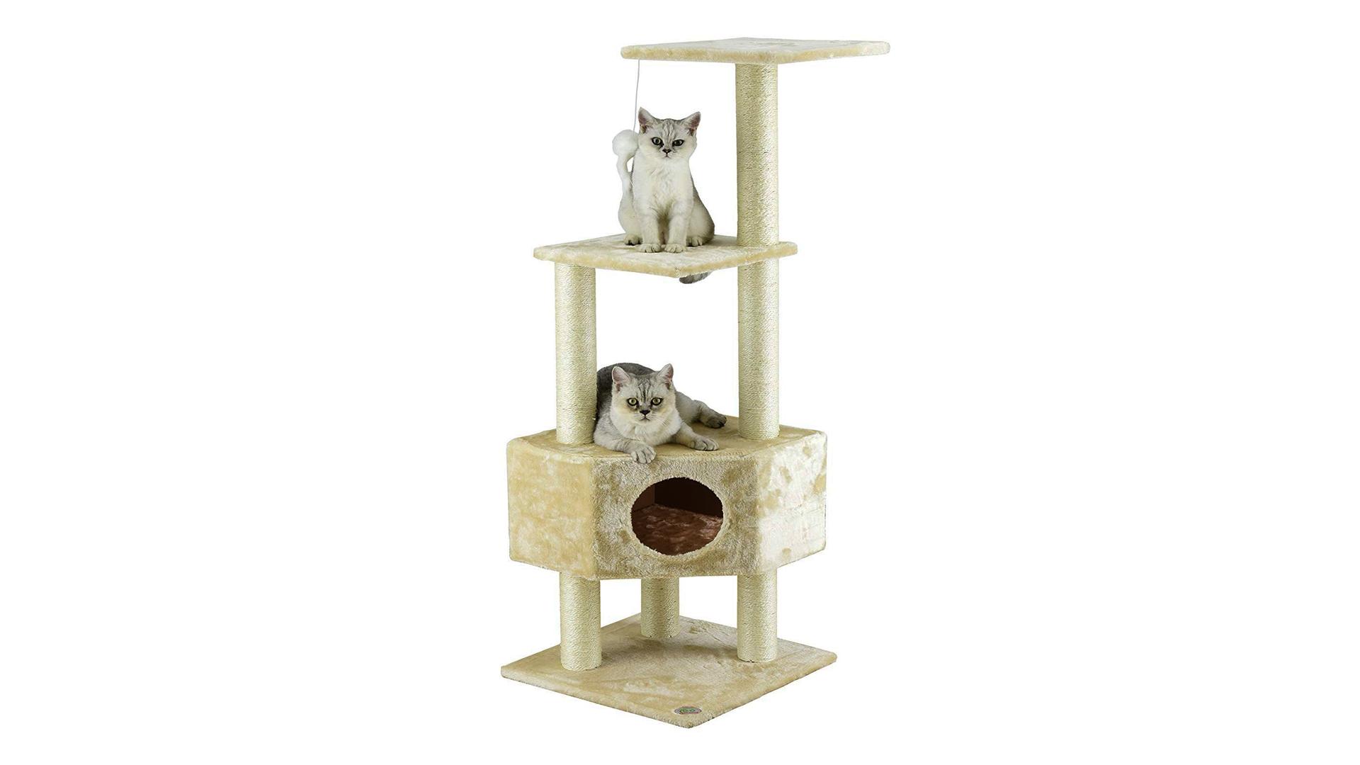 The Go Pet Club cat condo tree