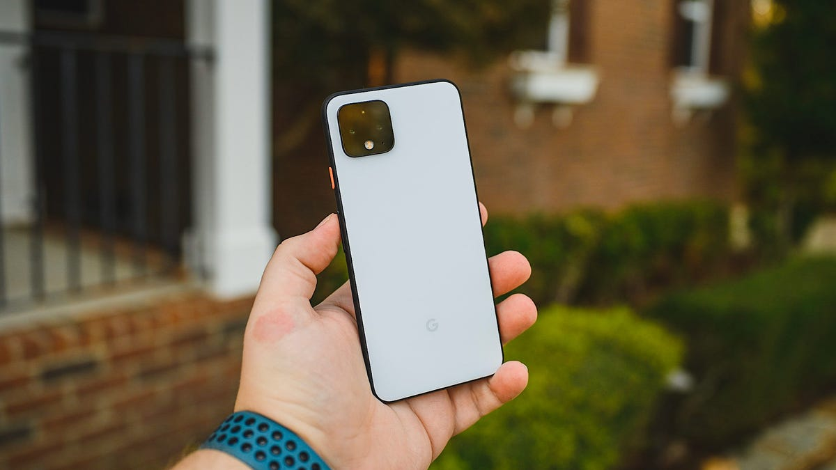 Google Pixel 4 Clearly White Back