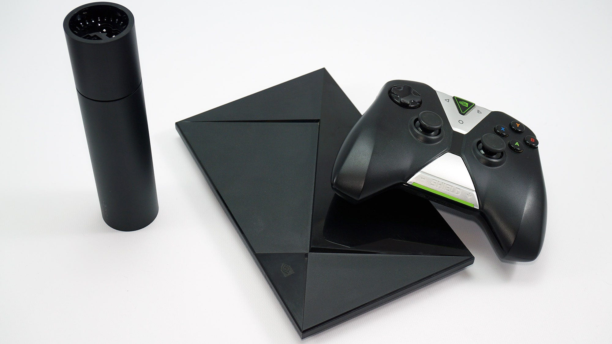 The new SHIELD with the original SHIELD and controller.