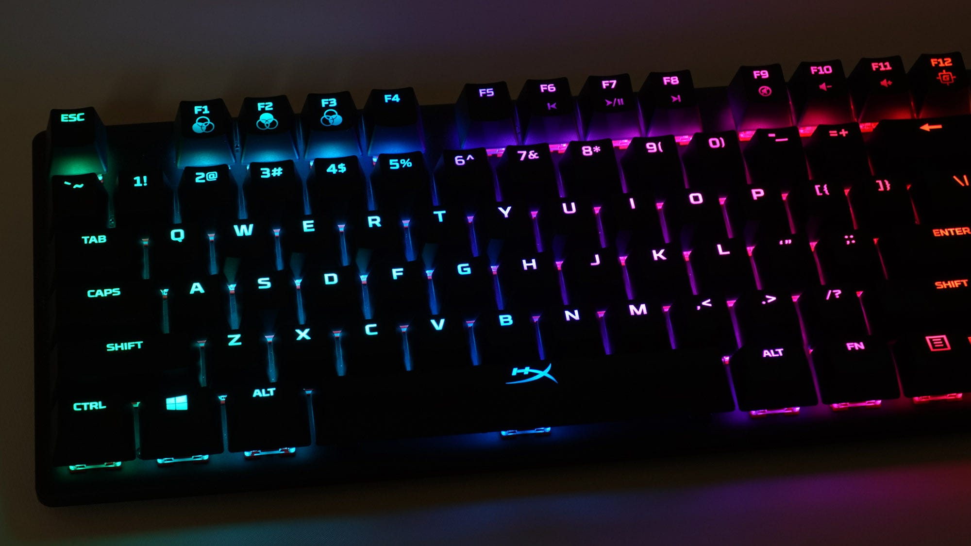 A shot of the RGB lighting in the dark.