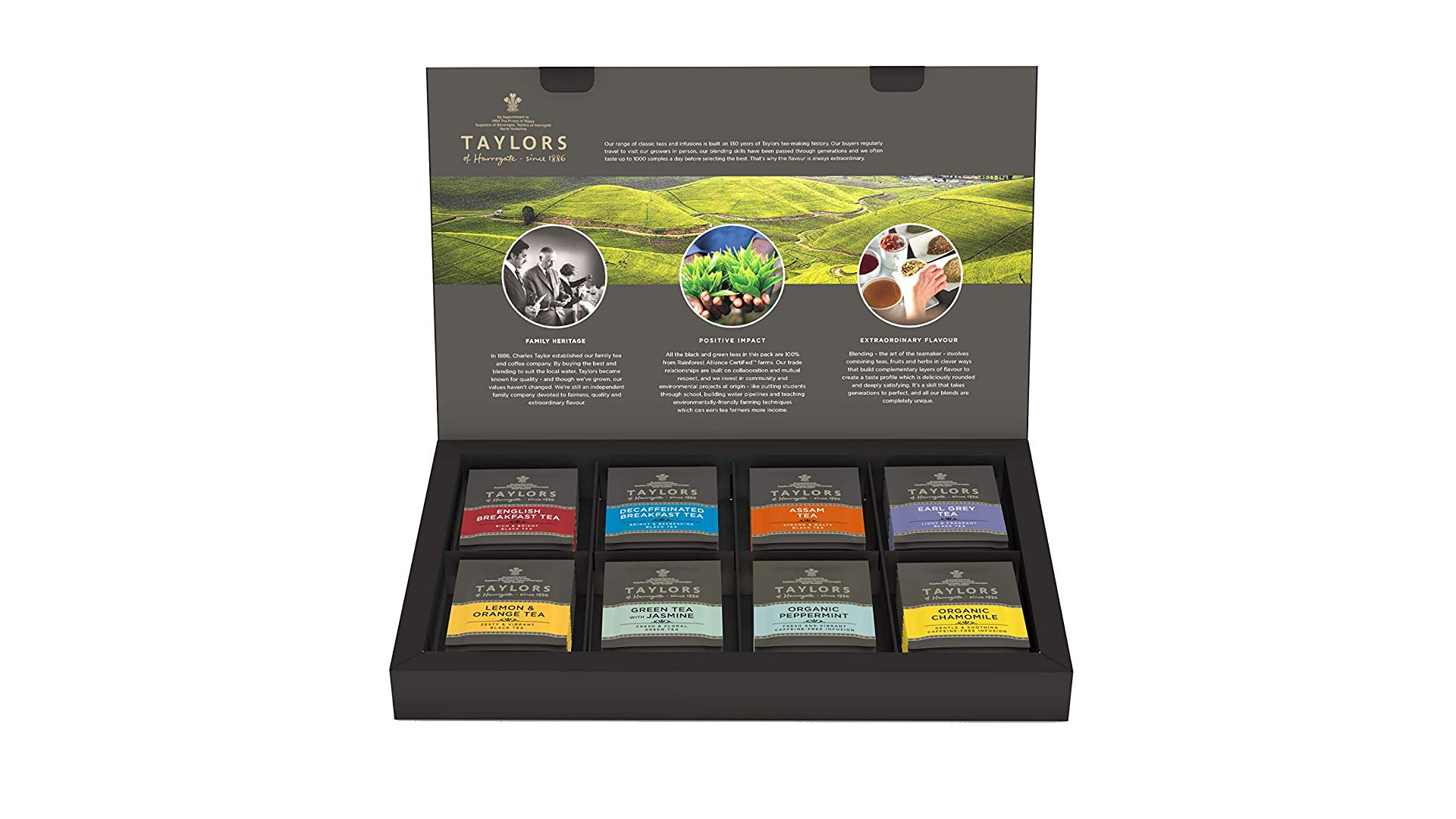 The Taylors of Harrogate tea sampler.