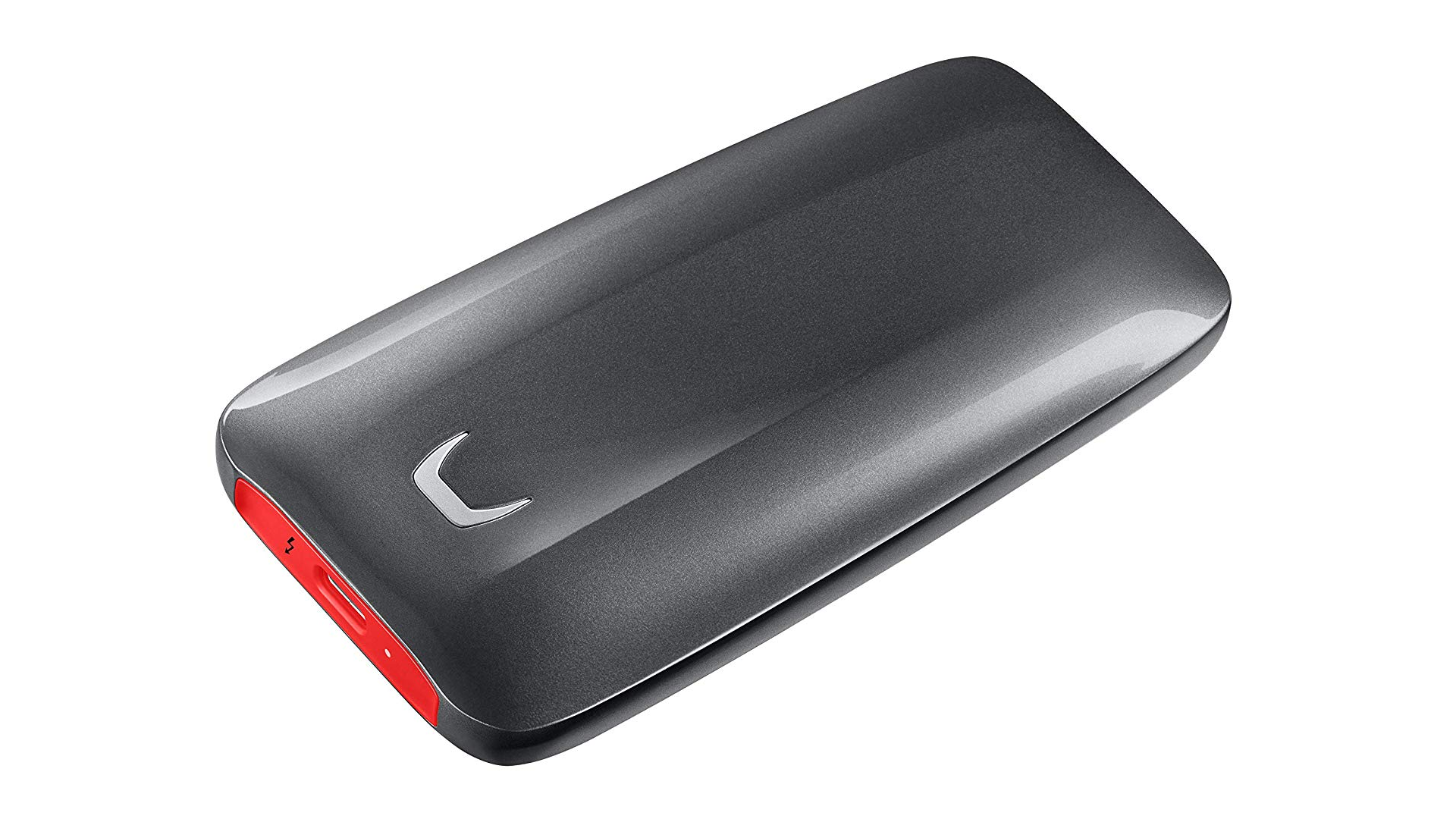 The Samsung X5 portable SSD.
