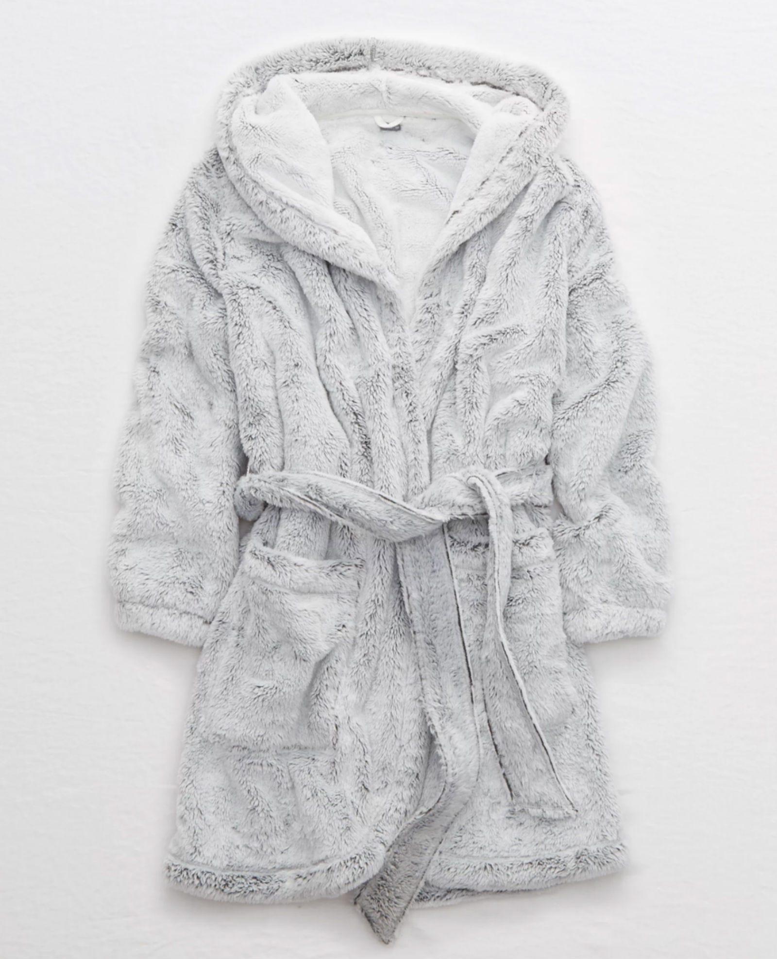 aerie fuzzy sherpa robe