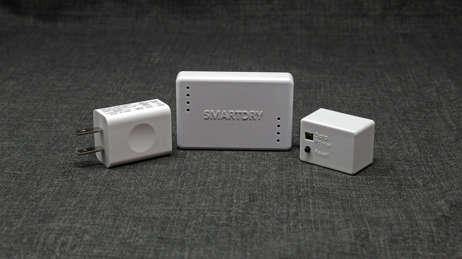 The SmartDry plug, sensor, and bridge.