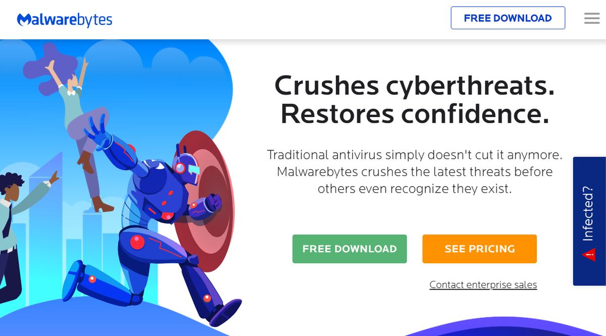 Malwarebytes home page