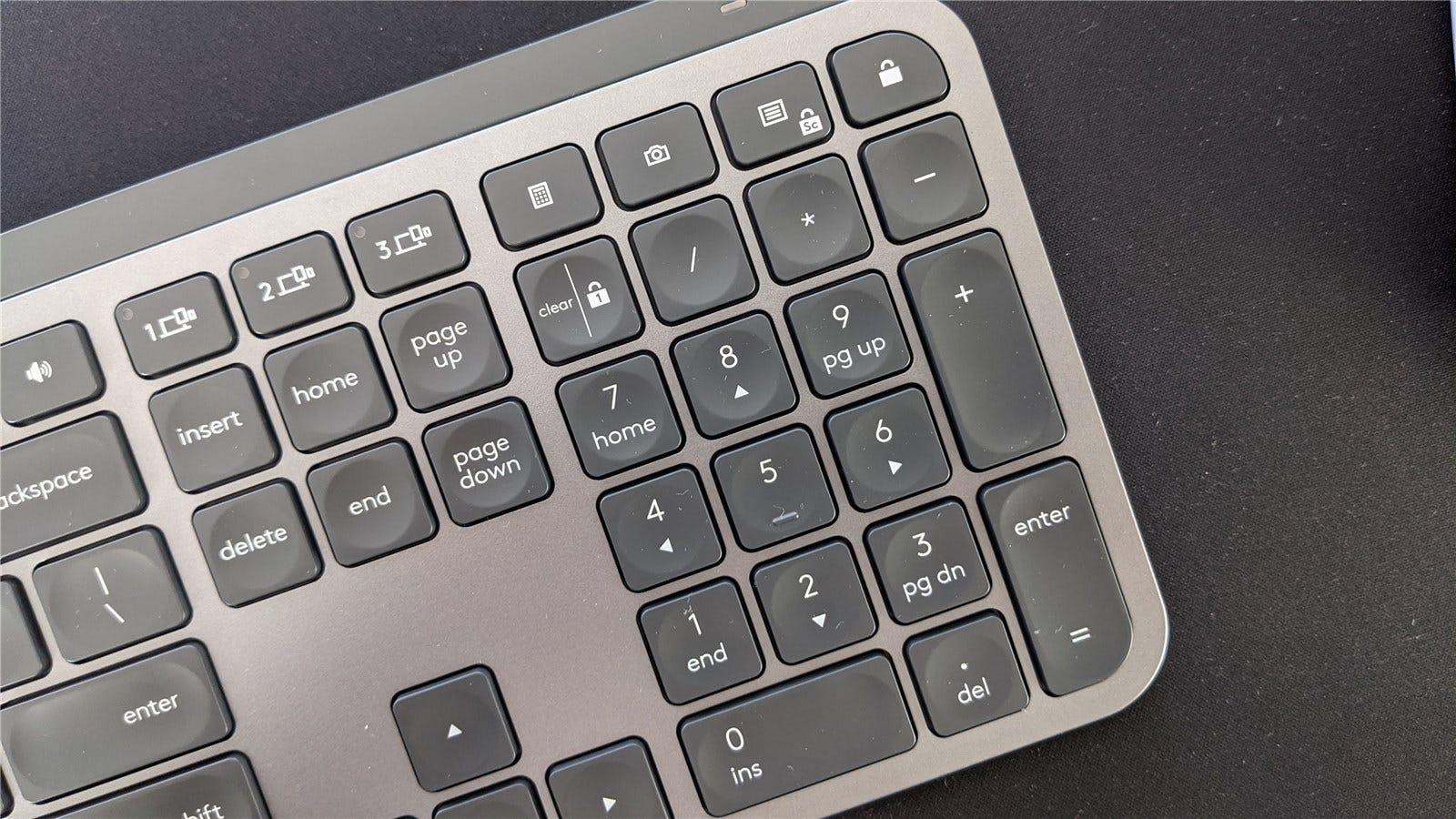 The MX Keys' 10 key