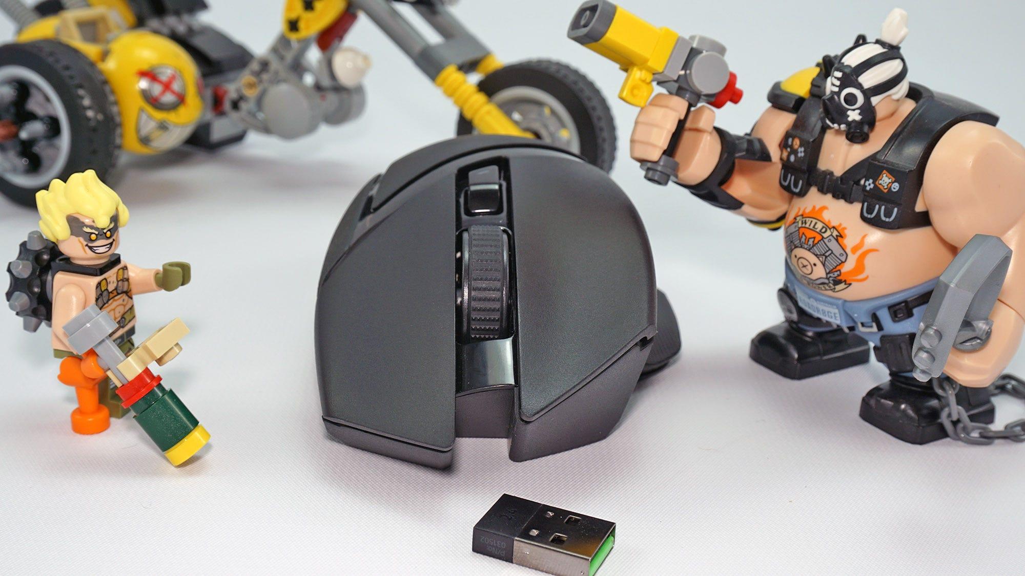 The Basilisk with Overwatch LEGO figures.