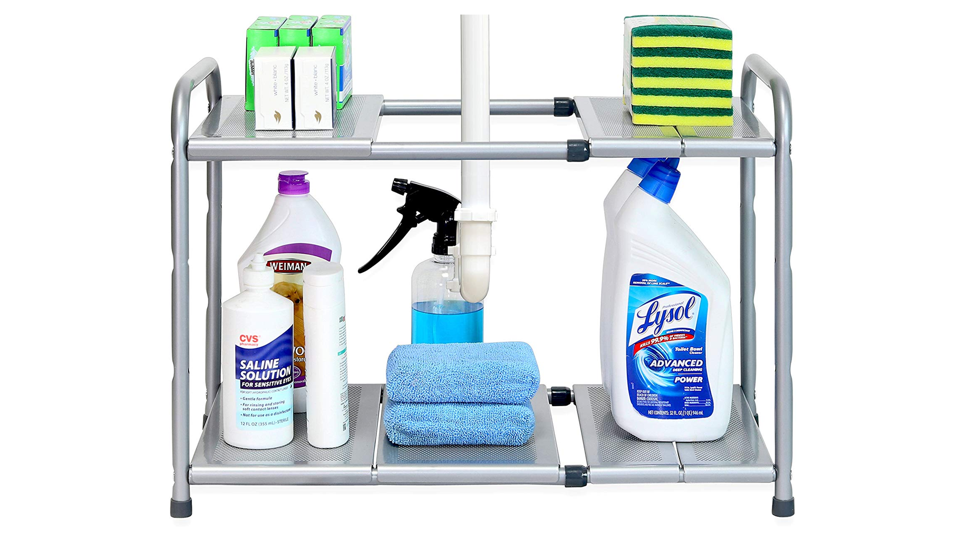 The Simple Houseware 2-tier adjustable shelf.