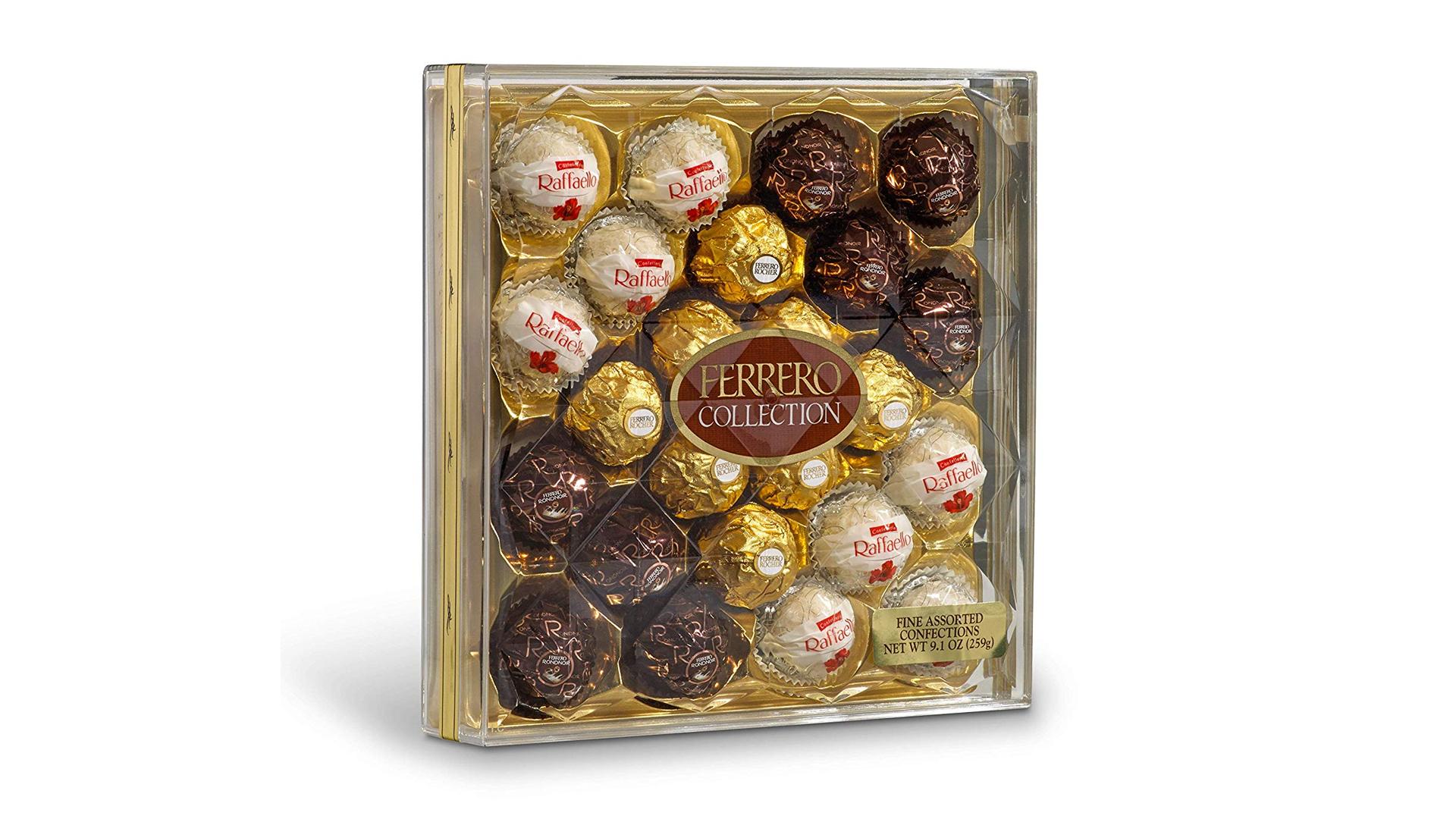 The FERRERO ROUCHER assorted chocolate box.