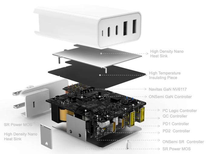 HyperJuice 100W GaN USB-C Charger Internals