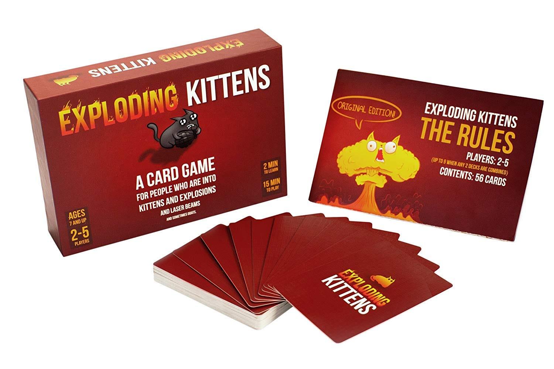 The popular card game Exploding Kittens