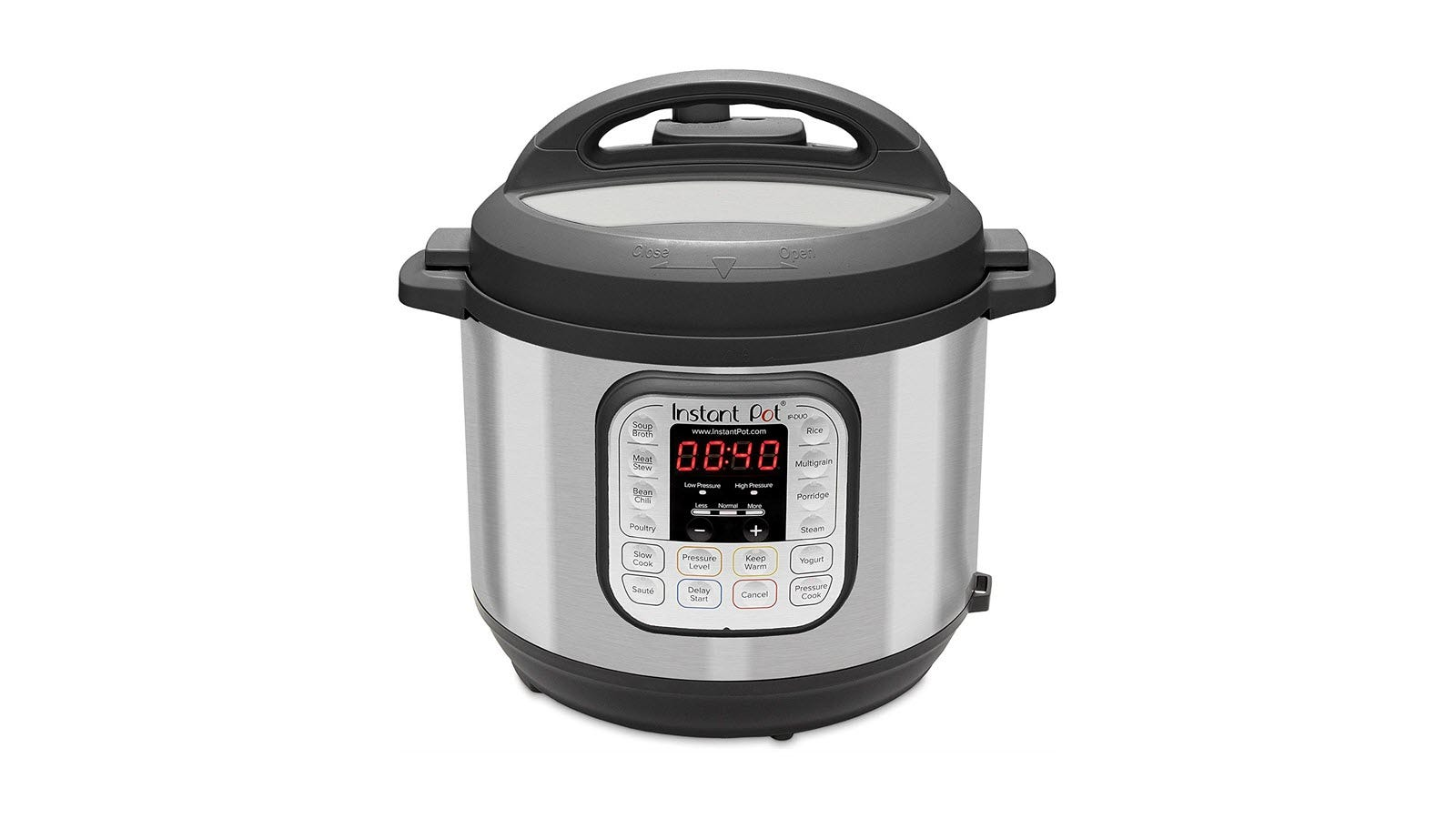 An Instant Pot 7 in 1 pressure cooker, with 40 minutes on the timer.